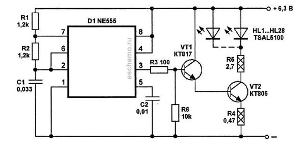 Мощность ИК подсветки