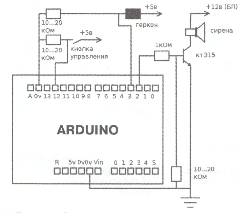 Охранная система на Ардуино