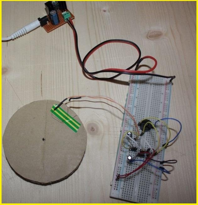 предварительная сборка компонентов металлоискателя